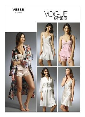 Vogue Sewing Pattern V8888 Miss Easy Robe Camisole Slip & Panties Sz 6-14, 14-20