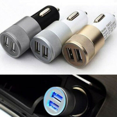 Universal Mini Dual USB Car Charger 2 Port Adapter For Smart Mobile/Cell-Phone/