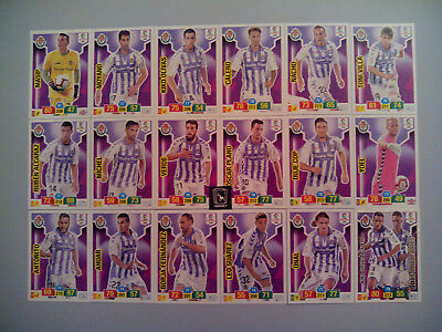 Set Completo Real Valladolid Cf 18 Cards Básicas - Adrenalyn Xl Liga 2018 2019