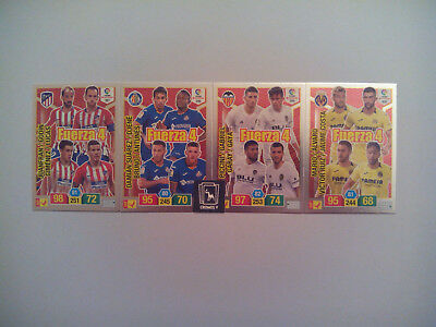 Set Completo 4 Cards Fuerza 4 Adrenalyn Xl Liga Santander 2018 2019