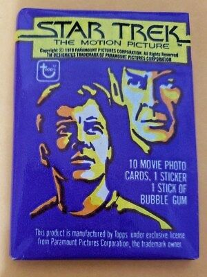 Star Trek The Motion Picture (1979) Topps Trading Card Wax Pack New Sealed TMP
