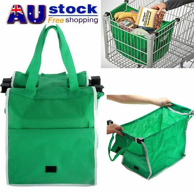 10pc Foldable Shopping Bags Reusable Eco Grocery Cart Trolley Carrier Handle Bag