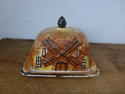 Price Kensington Cottage Ware Butter Dish cheese dome windmill
