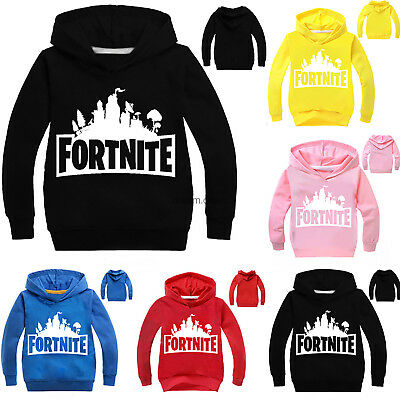 Kids Boys Girls Fornite Hooded Sweatshirt Warm Outfit Tops Hoodey Size:3-13Years