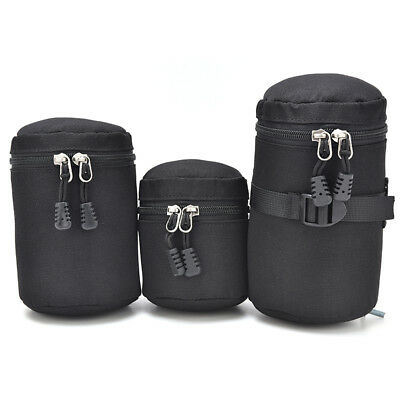 Thick Protective Waterproof Pouch Bag Travel Case Covers For DSLR Camera Lens HC