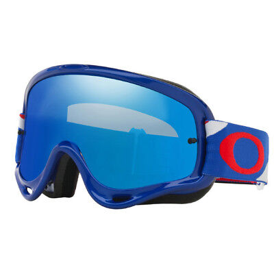 Oakley O-Frame MX Goggles - Heritage Racer Blue/Red/White w/Blue Iridium Lens