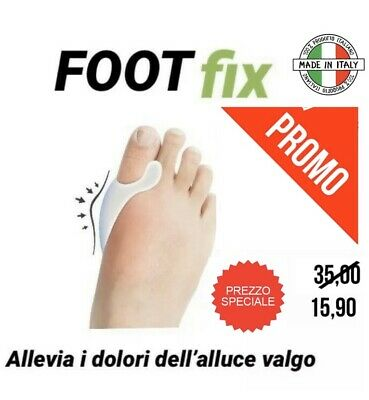 ALLUCE VALGO  Foot Fix  tutore silicone FOOTFIX  2x conf. anallergico