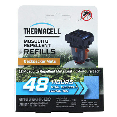 ThermaCELL Mosquito Repellent Mat Only Refill for The Backpacker- 48 Hour