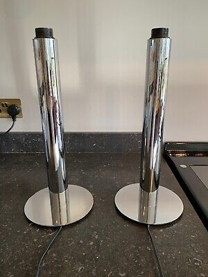 Gorgeous Pair Mid-century Designer Vintage Lamps 60's 70's Chrome From LG Paris