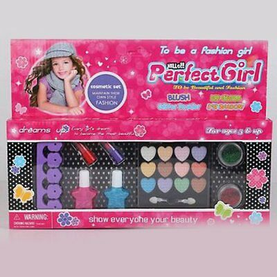 Kids Make Up Kit Pretend Play Make Up Case and Cosmetic Set For Kids Girls1F KH
