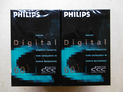 10x DCC Kassetten - Digital Compact Cassette - verscheißt / sealed - DCC Tapes