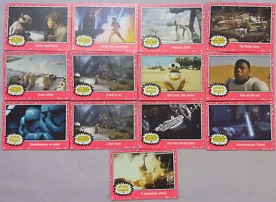 Topps Star Wars Journey To The Force Awakens Neon Pink Parallel Lot of 13
