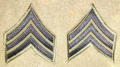 US Army Cut Edge Sergeant Subdued Rank Patch Set