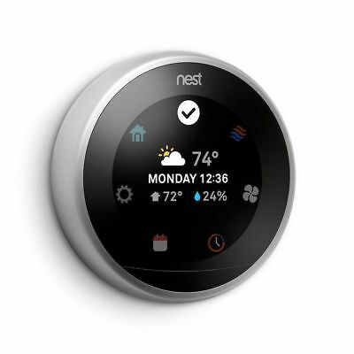Nest T3007ES A0013 Learning Thermostat 3rd Generation Stainless Steel