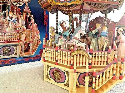 Carousel Royale Deluxe Lighted Majestic Ferris Wheel Action 1992 Enesco MusicBox