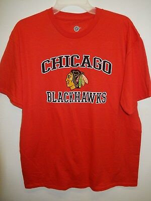 "9109-2 MENS CHICAGO BLACKHAWKS ""Team Logo"" Jersey Shirt Red LARGE New"