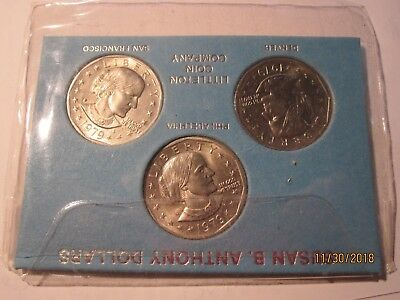 1979 P,D,S Susan B.Anthony Coin Set