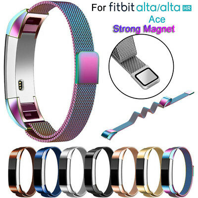 Replacement Stainless Steel Magnetic Milanese Band Strap For Fitbit Alta ACE-HR/