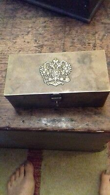 Tea Caddy With Russian Heraldic Badge