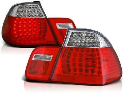 LED Rückleuchten Set BMW E46 Limousine BJ 05.98-08.01 Klarglas / Rot / Chrome