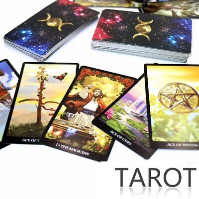 Mystic Tarot deck with 78 cards - read your destiny, past present, and future.