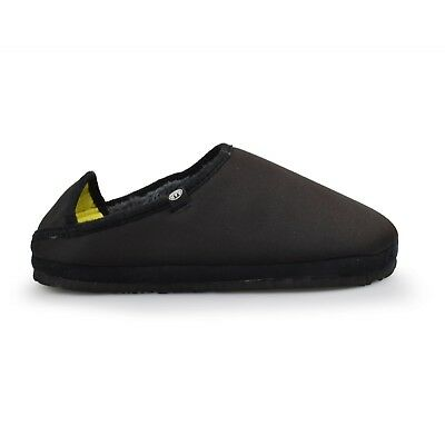 Animal® Eazy Fleece Lined Black Mens Slippers Brand New Clearance Sale