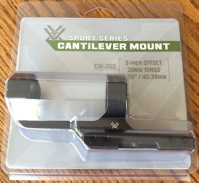 Vortex Cantilever Scope Ring Mount for 30mm Tube, 2in Offset CM-202 FREE SHIP