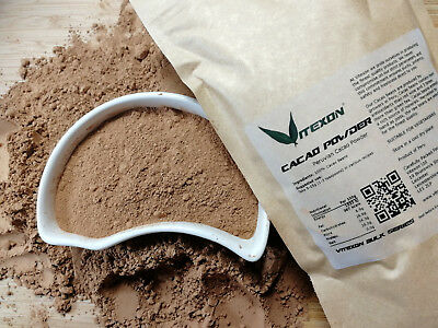 CACAO / COCOA Powder Peruvian 100% PURE and NATURAL 500g or 1Kg by Vitexon