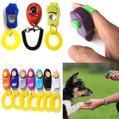 Puppy Training Clicker Dog Whistle Trainer Pet Click Teaching Barking Obedience