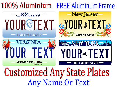 Any State Any Text License Plate Personalized Custom Auto Car Tag