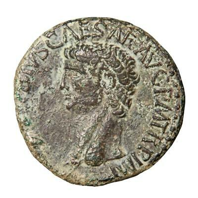 Claudius copper As minted Rome 42 AD