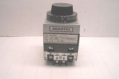 New Agastat Timing Relay 125 Vdc Coil 1.5-15 Seconds 7012Pc