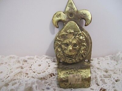 Vintage Brass Lion Head Speak-a-View Peep Hole,/ Deadbolt, Bell Cover