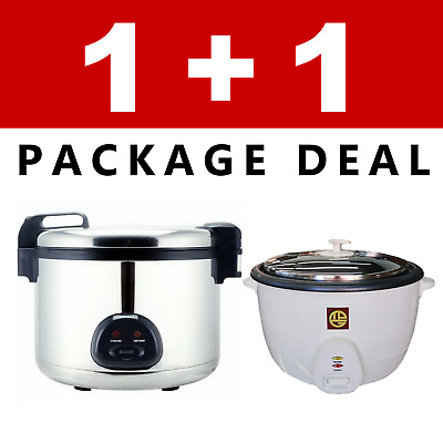 Pantin Commercial Restaurant 110 Cup + 50 Cup Electric Rice Cooker Package