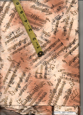 "Antique  Music  By Hoffman Fabrics,patchwork  Craft Fabric, 44"" X 69"""