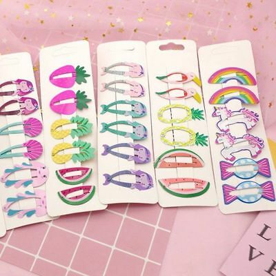 6Pcs/Set Hair Clips Fruit Cute Hairpin Baby Snap Clip Bang Grips Accessories UP