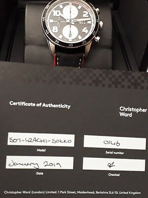 NEW Christopher Ward C7 Rapide Automatic Chronograph Valjoux 7750 SAVE £375 off