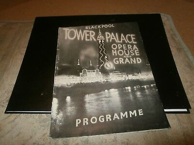 Blackpool Tower, Palace, Opera House and Grand Programme April 1938