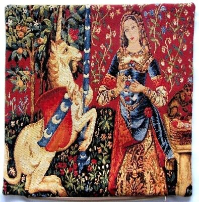 "Lady & The Unicorn 5 Senses, The Smell 14"" 35Cm Tapestry Cushion Cover With Zip"
