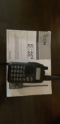 ICOM IC-A23 VHF Air Band Radio Handheld Aviation Transceiver works perfectly