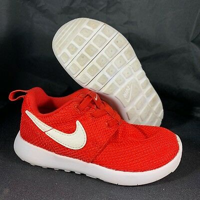 41c639e0664d4 NIKE ROSHE ONE - 749430-605 - Red White - Toddler Size 9c - Great ...