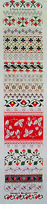 Patricia C Houghton A Taste of Strawberries Counted Thread Needlework Chart