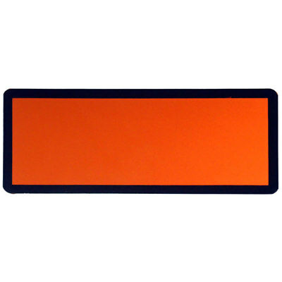 Magnetic ADR Orange Plate Placard Hazchem 120mm x 300mm