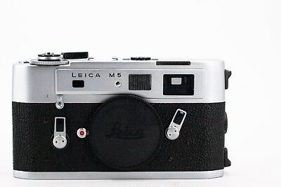 Leica  m5 Body 35mm 2 lugs silver Serial 1345830 (not the m3 or m4 m6)