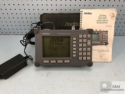 S113C-A6 ANRITSU SITE MASTER CABLE ANTENNA ANALYZER 2 MHz-1.6 GHz W/ AC ADAPTER