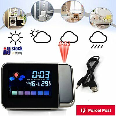Projection Clock Alarm High-definition LED Color Screen Electronic Clocks NKQ