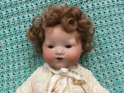Dolls Wig For Antique Or Reproduction Doll Size 9-10 Inches. Strawberry Blonde.
