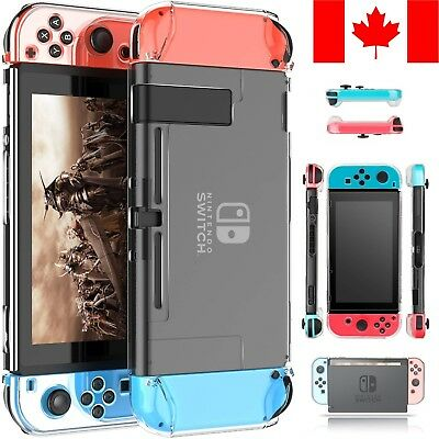 Nintendo Switch Case - Clear Protective Hard Shell Slim Dockable Joy-Con Cover
