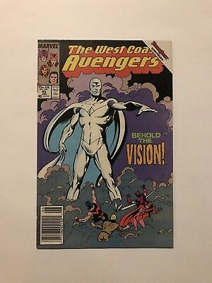 WEST COAST AVENGERS #45 (1st White Vision, Newsstand Edition) VF Key Book