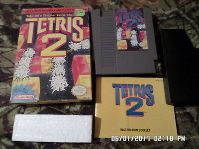 Tetris 2 = COMPLETE with Box & Instruction Manual (Nintendo NES Game)